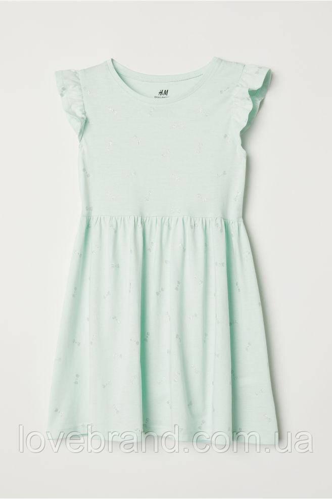 Летнее платье H&M светло салатовое с бантиками 1.5-2 г/ 92 см