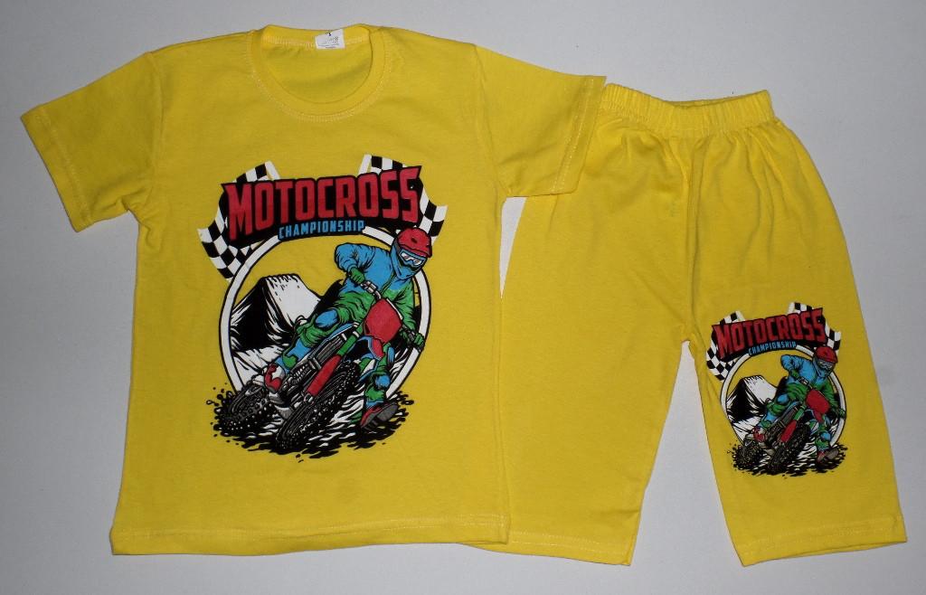 """Детский костюм летний на мальчика """" Motocross"""" 4,5,6,7,8 лет"""