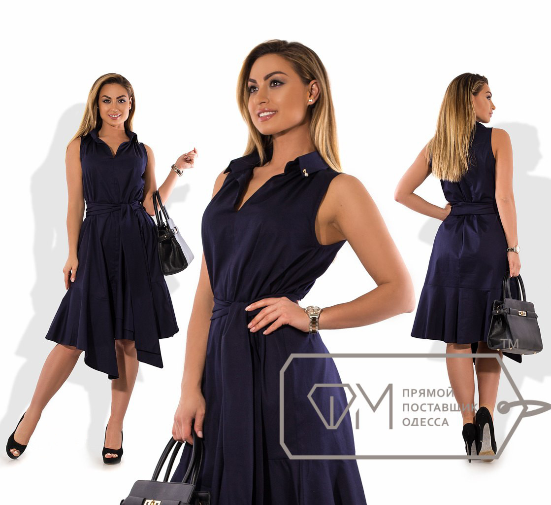 Батальное платье из стрейч-коттона