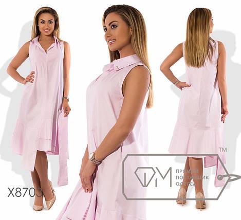 Батальное платье из стрейч-коттона, фото 2