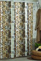 """Штора в ванную текстиль 180 x 200 см """"Мозаика"""""""