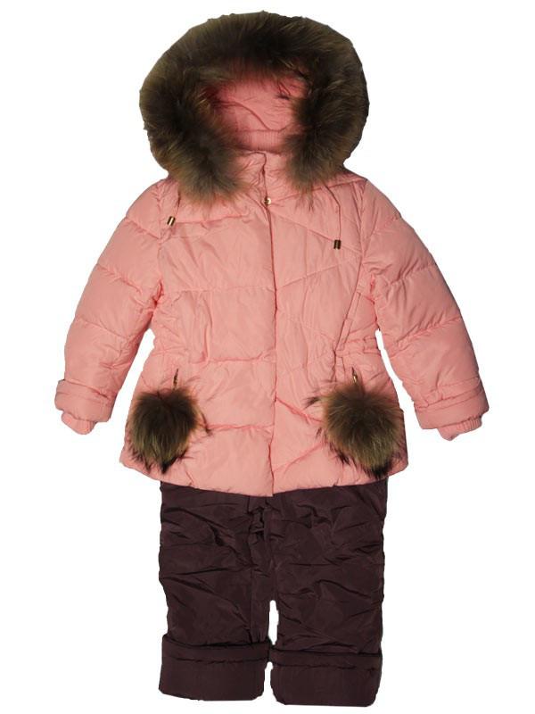 Детский зимний комбинезон для девочки  6 лет New Soon