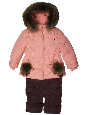 Детский зимний комбинезон для девочки  6 лет New Soon, фото 2