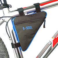 Сумка треугольная на раму велосипеда, Синий