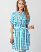 Женское летнее платье-рубашка (Рубик leo)