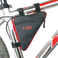 Сумка треугольная на раму велосипеда, Красный