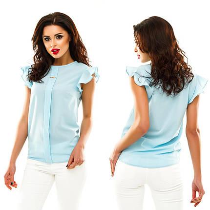 Однотонная блузка с воланами, фото 2