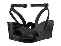 Сандалии Crocs Leigh II Ankle Strap Wedge Black - Оригинал, фото 1