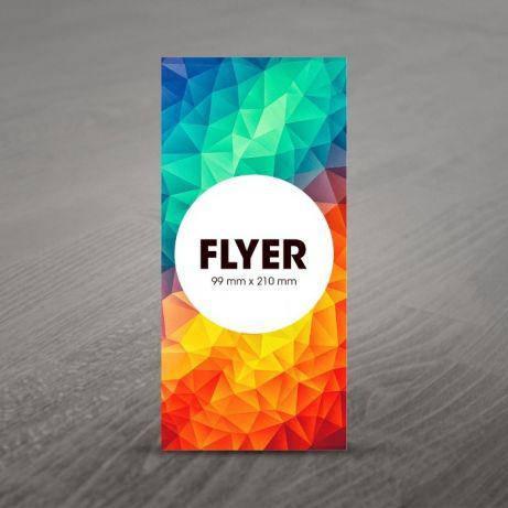 Флаер, еврофлаер, печать флаеров (99*210) 4+0, фото 2