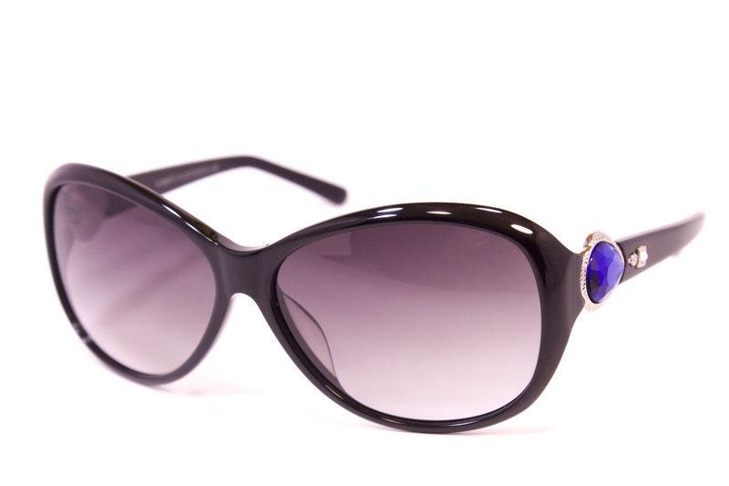 Женские солнцезащитные очки TR90 Черные + Футляр Серый (F6973-27)