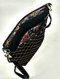 Джинсовая стеганная сумочка Джек Воробей, фото 4