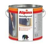 Антикоррозионная грунтовка для железа и стали Alpina METALLGRUND серая 2.5 л
