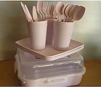 """Набор посуды для пикника """"Magic Picnic Set"""" 32 предмета на 6 персон(бежевый), фото 1"""