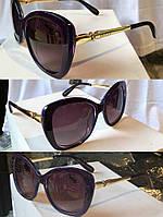 Женские очки солнечные GUCCI с золотой оправой