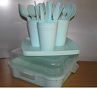 """Набор посуды для пикника """"Magic Picnic Set"""" 32 предмета на 6 персон(ментоловый), фото 1"""