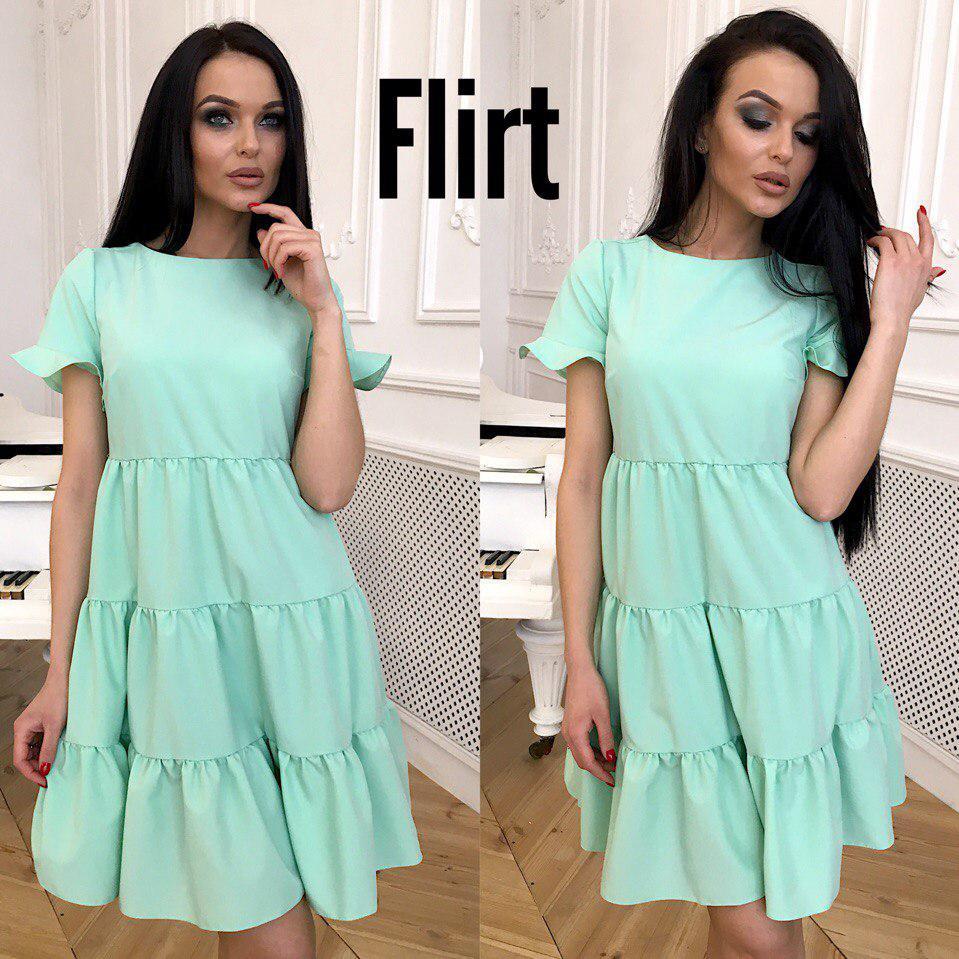 69816e00ab2 Короткое однотонное платье свободного силуэта 42 - Интернет-магазин