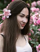 """Заколка/ Брошь цветок """"Пудровая гардения"""". (1шт) Подарок девушке"""