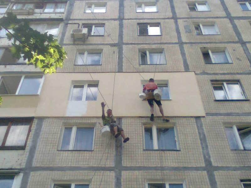 Фасадные работы здание Днепропетровск