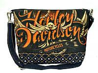 Джинсовая стеганная сумочка HARLEY DEVIDSON, фото 1