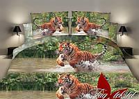 Семейный комплект постельного белья с Тигром, Ранфорс