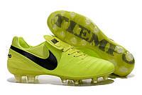 Футбольные бутсы Nike Tiempo Legend VI FG Volt/Black/Barely Volt