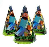 """Ковпачки святкові """"Minecraft"""" Майнкрафт. Розмір: 16 см"""