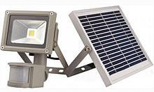 Прожектор LED cолнечная батарея + аккумулятор 10w д/движ. COB IP65 800LM / LMP9-10