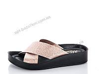 Шлепки женские Selena АКБ матово-бронзовый (36-40) - купить оптом на 7км в одессе