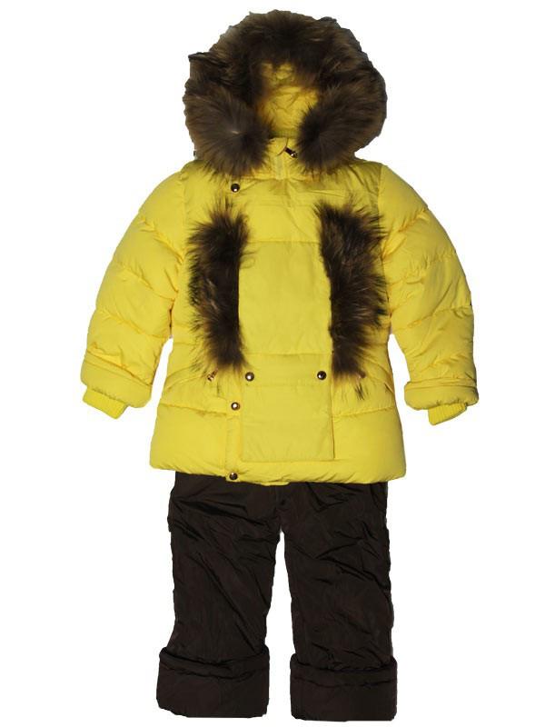 Детский зимний комбинезон для девочки  6-7 лет New Soon