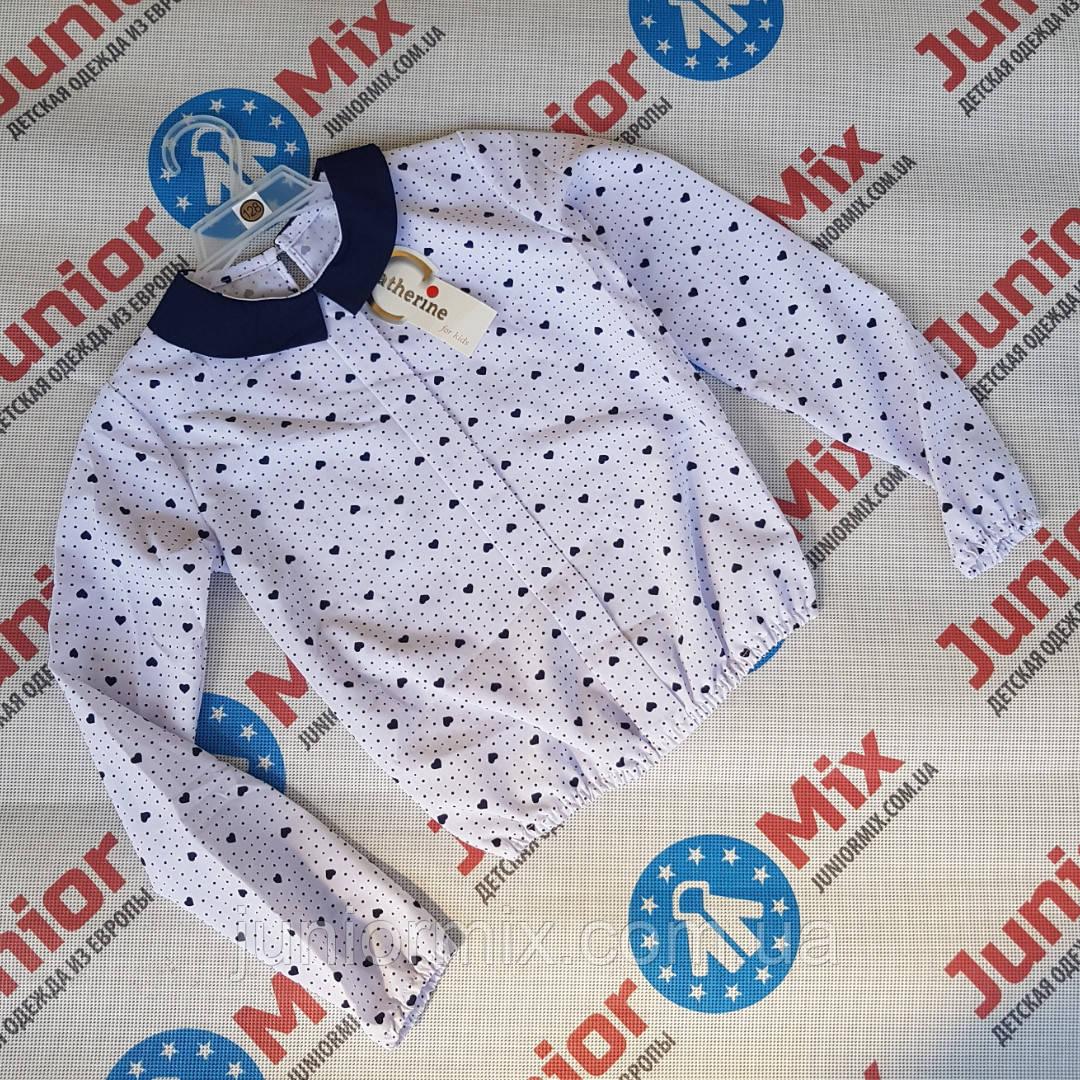 Нарядная детская блузка на девочку в сердечки Katherine