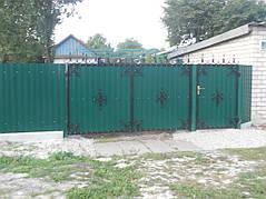 Ворота, калитки, заборы из профнастила. 1