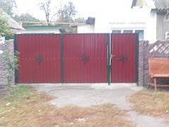Ворота, калитки, заборы из профнастила. 2