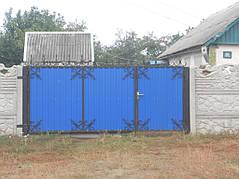 Ворота, калитки, заборы из профнастила. 4