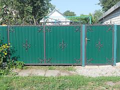 Ворота, калитки, заборы из профнастила. 5