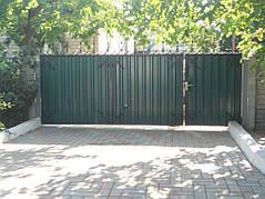 Ворота, калитки, заборы из профнастила. 6