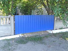 Ворота, калитки, заборы из профнастила. 7