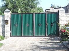Ворота, калитки, заборы из профнастила. 9