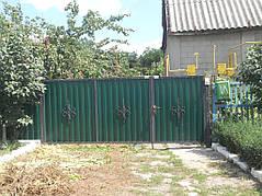 Ворота, калитки, заборы из профнастила. 10