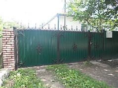 Ворота, калитки, заборы из профнастила. 12