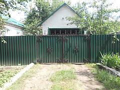 Ворота, калитки, заборы из профнастила. 13
