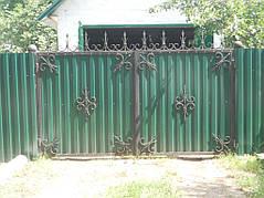 Ворота, калитки, заборы из профнастила. 14