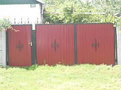 Ворота, калитки, заборы из профнастила. 16