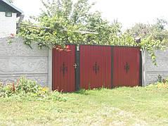Ворота, калитки, заборы из профнастила. 17