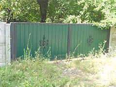 Ворота, калитки, заборы из профнастила. 20