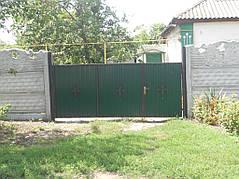 Ворота, калитки, заборы из профнастила. 22