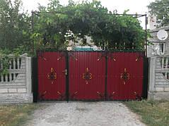 Ворота, калитки, заборы из профнастила. 24