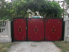 Ворота, калитки, заборы из профнастила. 25