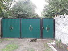 Ворота, калитки, заборы из профнастила. 26