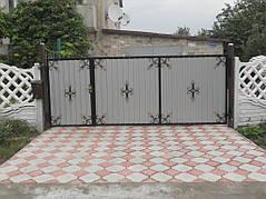 Ворота, калитки, заборы из профнастила. 27