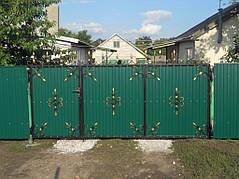 Ворота, калитки, заборы из профнастила. 28